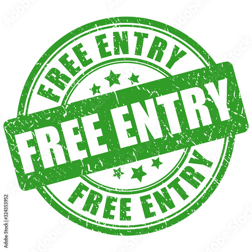 Photo Free entry vector stamp
