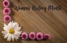 Womens History Month On Wooden...