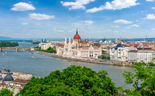 Budapest Cityscape With Hungar...