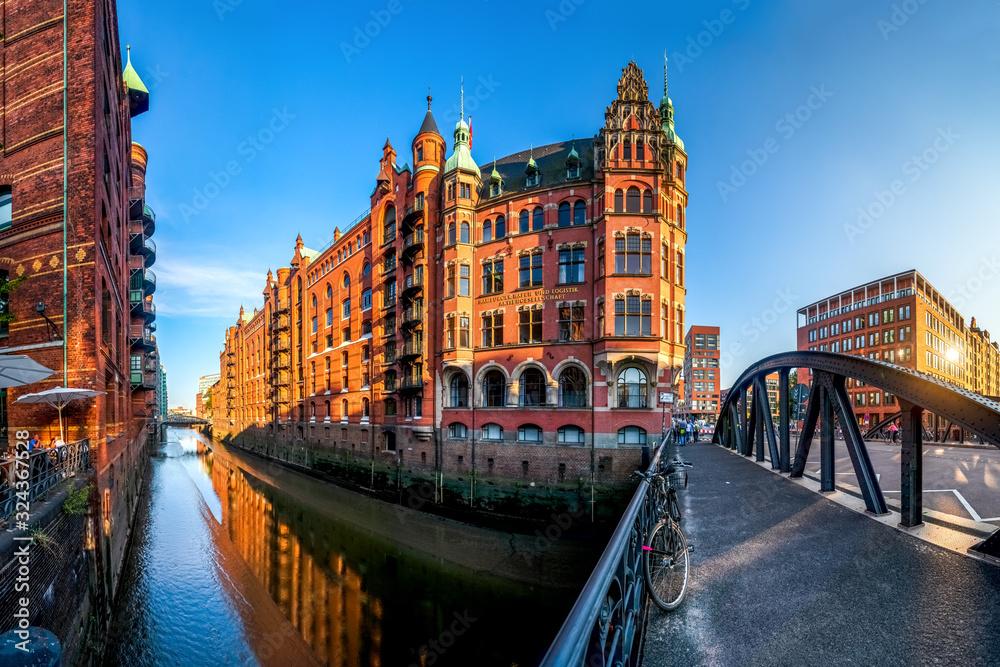 Fototapeta Speicherstadt, Hamburg, Deutschland