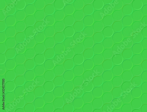 Photo 3d embossed wallpaper graphic in bright green