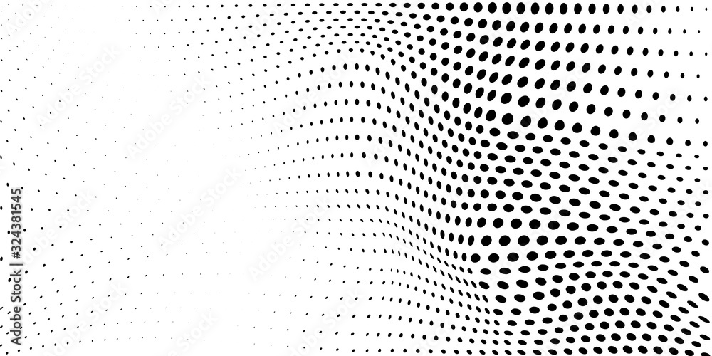 Fototapeta Abstract background made of halftone dots in white and black colors