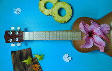 Ukulele In Brown Tones With Be...