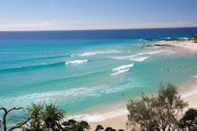 Rainbow Bay Beach, Gold Coast,...