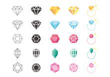 宝石のアイコンイラスト素材
