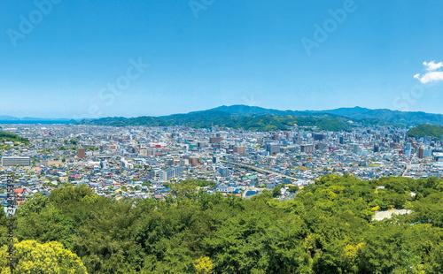 愛媛県松山市街地風景
