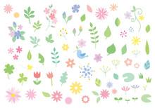 花や葉っぱのイラスト...
