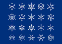 いろんな雪の結晶