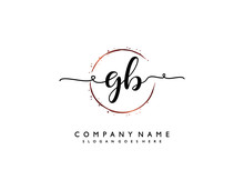 Letter GB BG Minimalist Feminine Handwriting Logo. Vector Design Of Wedding Invitation Badges, Fashion, Beauty,
