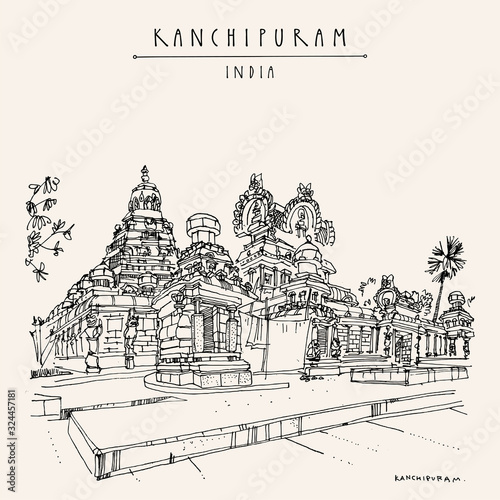Fototapeta Kanchipuram (Kanchi), Tamil Nadu, South India