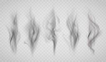 Texture Of Black Smoke. Isolat...