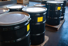 Group Of Steel Drums Storing H...