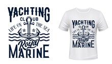 Anchor T-shirt Print Of Nautic...