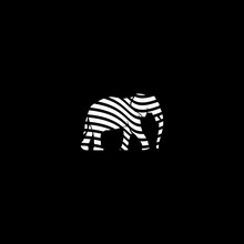 Elephant Logo Design. Vector Of Elephant Animals. Line Style. Perfect For Animal Design