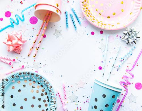 Birthday table setting Canvas Print
