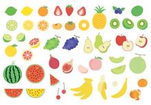 いろんな果物のイラストセット