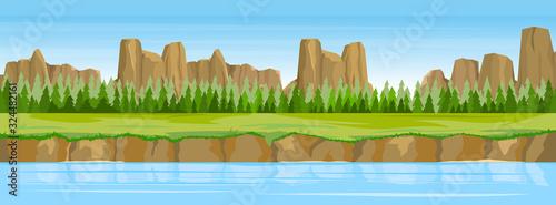 Fotografia Summer landscape with river