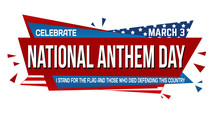 National Anthem Day Banner Design