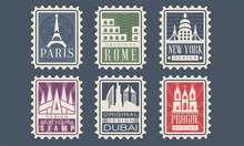 Collection Of City Stamps From...