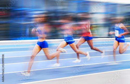 Tablou Canvas Athlétisme course stade olympique jo féminin