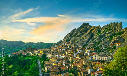 Photo Pietrapertosa village in Apennines Dolomiti Lucane