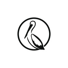 Artistic Stylized Pelican Icon...