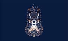 Squirrel On Dark Background