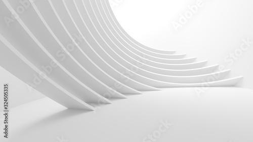 Carta da parati White Wave Background