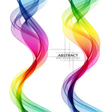 Set Of Abstract Bright Colorfu...