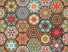 Colorful Patchwork Pattern In ...