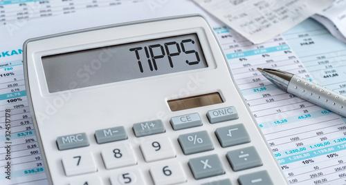 Photo Taschenrechner mit Dokumenten - Tipps