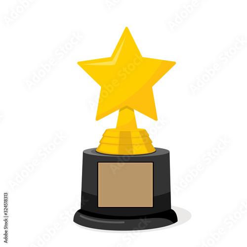 Golden cinema hollywood academy star trophy award Wallpaper Mural