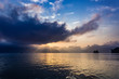 Sunset at Khao Sok National Park, Cheow Lan Lake, Thailand