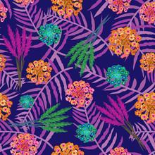 Lavender Lantana -Flowers In B...