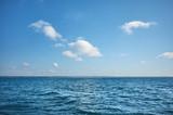 Sky over the ocean on a sunny day.