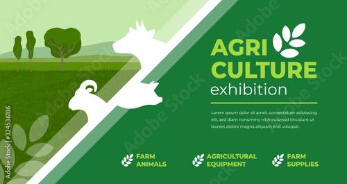 Photo Design concept for agriculture exhibition, fair