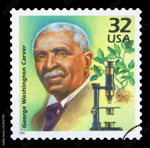 Fotografija UNITED STATES OF AMERICA - CIRCA 1998: A stamp printed in USA shows George Washi