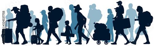 Obraz na plátně Moving people
