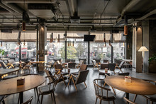 Interior Of Modern Cafe In Lof...
