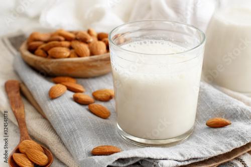 Vegan almond milk, non dairy alternative milk Canvas Print