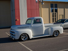 Customized White Pick Up Truck