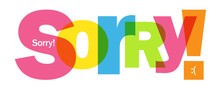 SORRY! Colorful Vector Typogra...