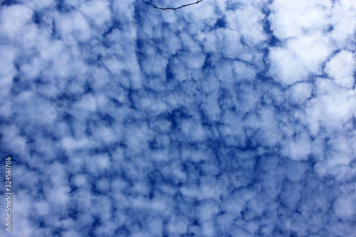 Photo Altocumulus clouds background