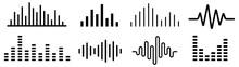 Sound Wave. Audio Wave Set. Vector