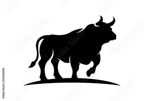 bull logo, bull,power,head