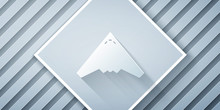 Paper Cut Jet Fighter Icon Isolated On Grey Background. Military Aircraft. Paper Art Style. Vector Illustration