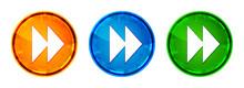 Jump Forward Icon Shiny Abstra...