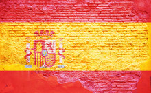 Spain Spanish Flag Painted On ...