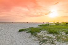 Siesta Key Beach At Sunset, Sarasota, Florida