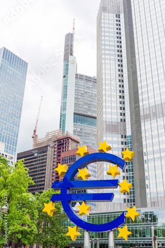 Frankfurt, Germany - June 12, 2019: Euro Sign Canvas Print